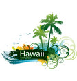 hawaiian tropical background vector image vector image