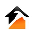home repair service symbol design vector image