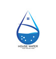 house water logo vector image vector image