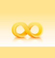 infinity color icon sign element graphic vector image vector image