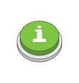 information icon on green button vector image vector image