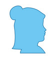 isolated blue women face vector image vector image