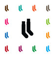 isolated hosiery icon half-hose element vector image