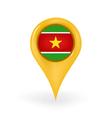 Location Suriname vector image vector image