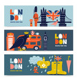 london horizontal banners set vector image vector image