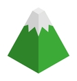 mountain isometric isolated icon vector image vector image