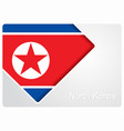 north korean flag design background vector image