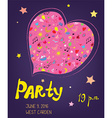 Party funny bacground for birthday or music event vector image vector image