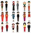people of different nations vector image vector image