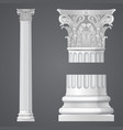 realistic corinthian column vector image vector image