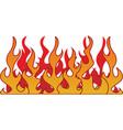 Retro flame vector image vector image