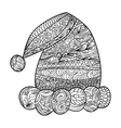Santa Claus hat zendoodle design element vector image vector image