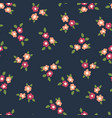 scattered ditsy flowers seamless pattern vector image vector image