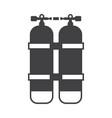 scuba oxygen air balloons icon vector image vector image