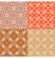 Set of 4 patterns with bold geometric shapes vector image vector image
