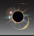 solar eclipse abstract light-rays of light vector image vector image