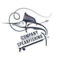 spear fishing company vector image