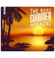 summer sunset card vector image