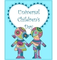 Universal children day background vector image vector image