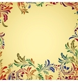 Vintage colorful floral background vector image vector image