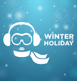 Winter holiday and icon women on blue background vector image