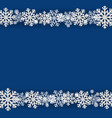 winter snowflake blue background vector image vector image