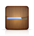 wooden app icon with progress bar on white vector image