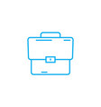 work bag linear icon concept work bag line vector image