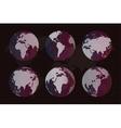 World map globe Earth texture vector image