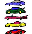 Cartoon cars vector image