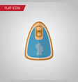 isolated fillet flat icon canned chicken vector image