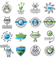 large set of logos robots and new technologies vector image