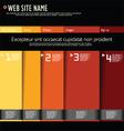 Modern web site design template vector image