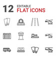 12 trip icons vector image vector image