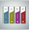 4 steps of infographic with blue green magenta vector image vector image