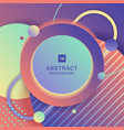 abstract modern bright geometric circle pattern vector image vector image