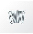 accordion icon line symbol premium quality vector image
