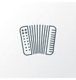 accordion icon line symbol premium quality vector image