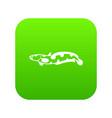 anarhichas fish icon digital green vector image