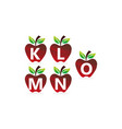 apple initial template set vector image