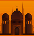 arabic architecture islamic background vector image vector image