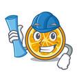 architect orange character cartoon style vector image vector image