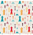 arrows directing up seamless pattern vector image