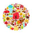 autumn season concept vector image vector image