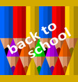 back to school inscription on the background of vector image vector image