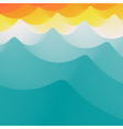 Background of Blue Waves Wavy Realistic Background vector image