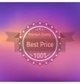 Best price premium quality badge vector image vector image