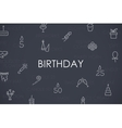 Birthday Thin Line Icons vector image