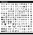 black 182 universal web icons set on gray vector image vector image