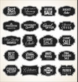 blank black frame and label collection vector image vector image